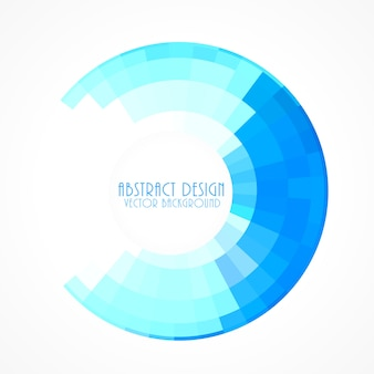 Blue circular frame background in mosaic style