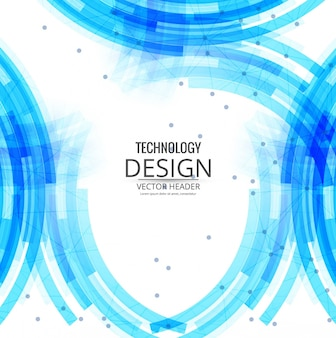 La tecnologia sfondo blu