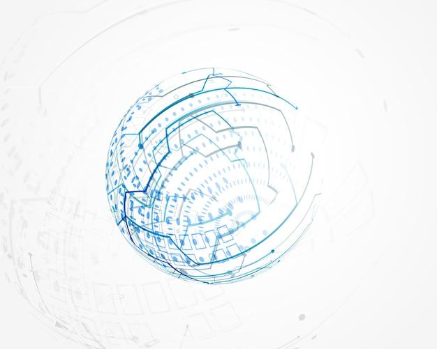 青い円形技術のワイヤメッシュベクトル