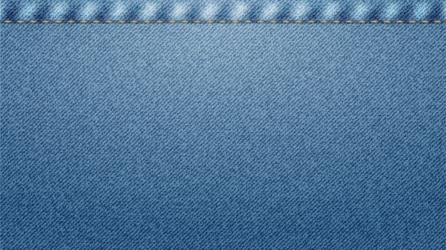 Blue classic jeans denim texture with seam.