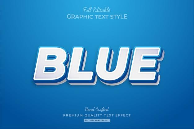 Blue clean editable premium text style effect