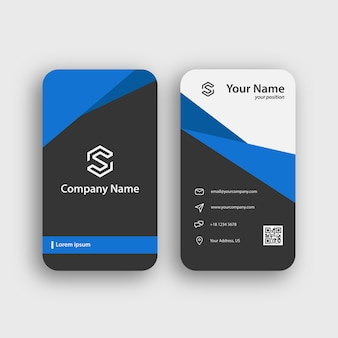 Blue clean professional business card