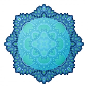 Blue clip art with isolated eastern design