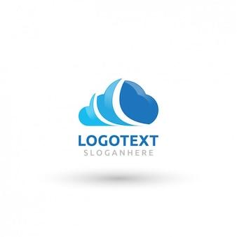 Blue cloud logotype