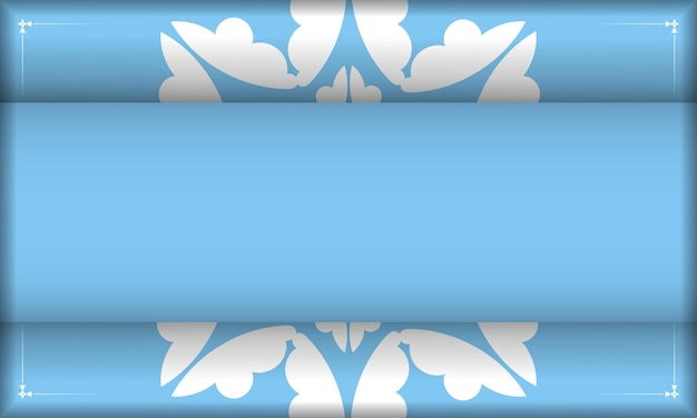 Blue color banner template with greek white pattern and place under your text