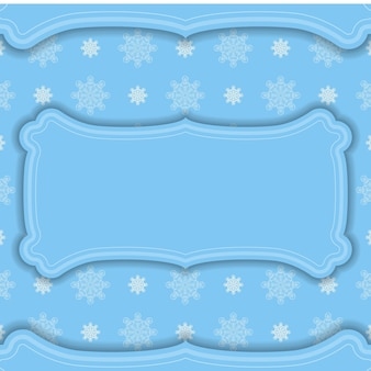Blue color banner with indian white pattern for design under your logo