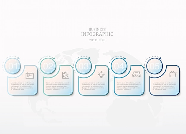 Blue color infographics and icons for present business concept.
