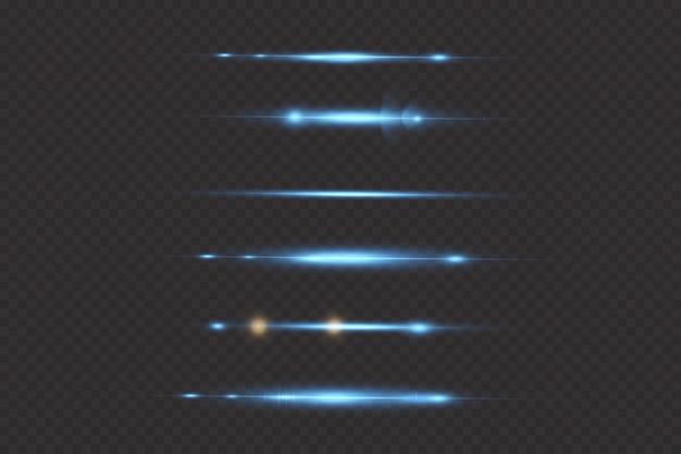 青色光効果抽象的なレーザービーム