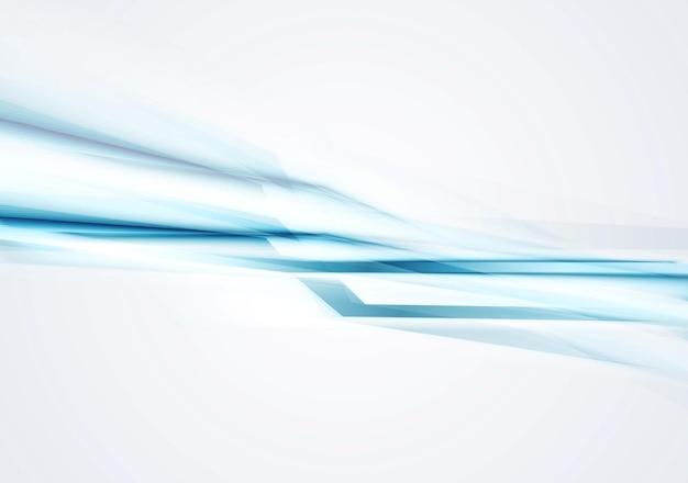 青いコンセプトのハイテクストライプの背景。ベクトルアートデザイン