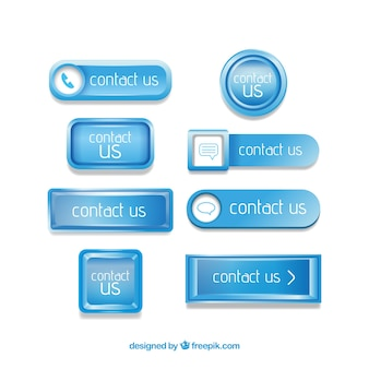 Blue contact button pack