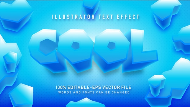 Blue cool  text style effect up