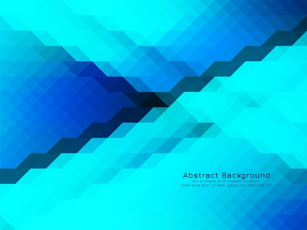 Blue coolor triangular mosaic pattern geometric background vector