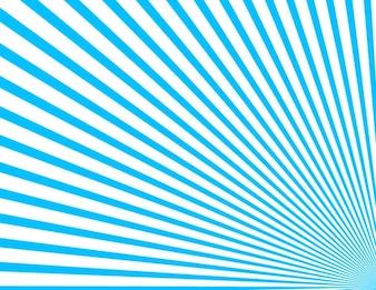 Blue corner sunbeam rays background