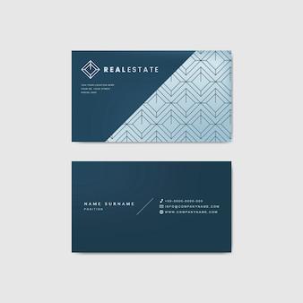 Синий корпоративный шаблон визитной карточки
