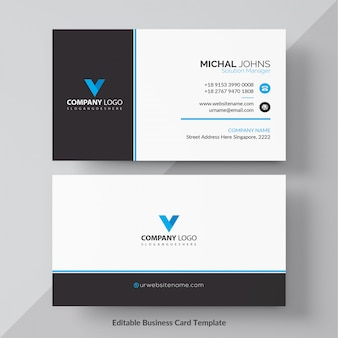 Blue corporate card template
