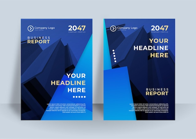 Blue corporate identity cover business vector design. flyer brochure advertising abstract background