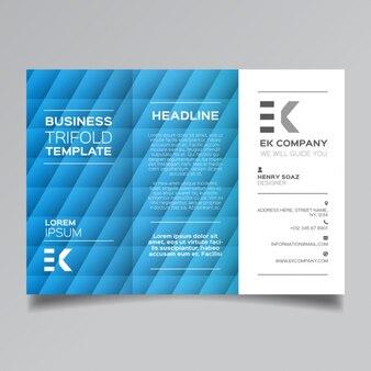 Modello blu brochure aziendale moderna