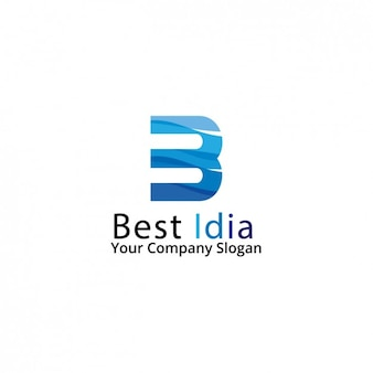 Blue corporative logo design