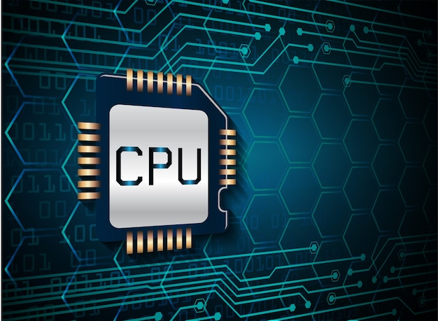 Синий цп кибер схема будущей технологии концепции фон