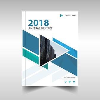 Modello blu rapporto annuale creativo