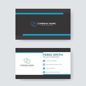 블루 크리에이티브 비즈니스 카드