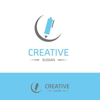 Blue creativity logo