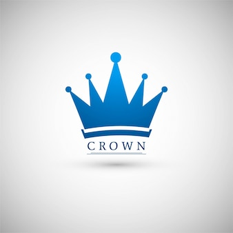 Blue crown logotype