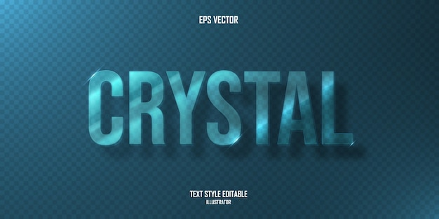 Blue crystal text style effect