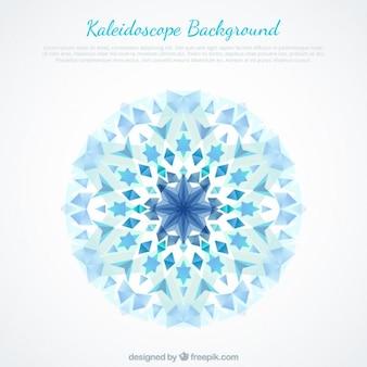 青色の結晶抽象的な背景