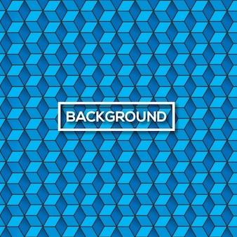 Синий куб узор фона