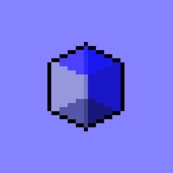 ピクセルアートスタイルの青い立方体