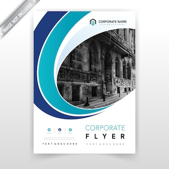 Blue curve annual report cover