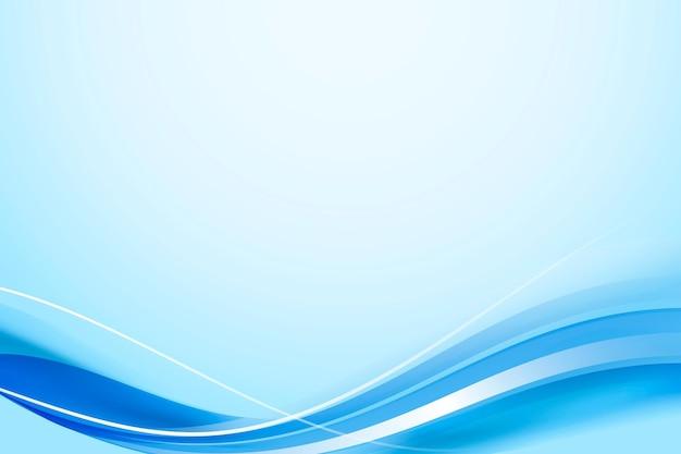 青い曲線フレームテンプレート