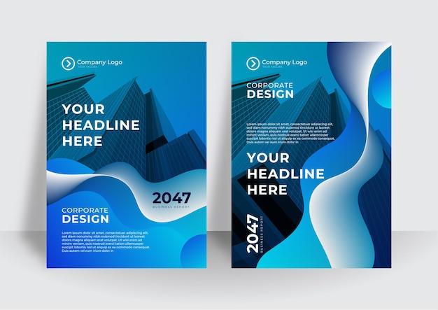 Голубая кривая вектор бизнес-предложение, листовка, брошюра, дизайн шаблона флаера, дизайн макета обложки книги, абстрактный шаблон бизнес-презентации, дизайн размера а4