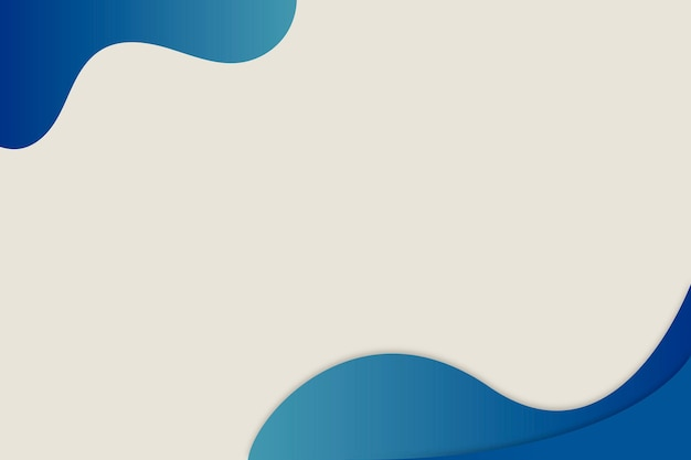 Синяя изогнутая граница на простом фоне