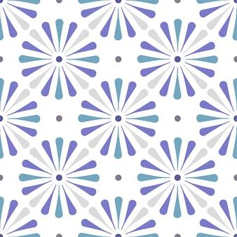 ブルーかわいいタイルパターン