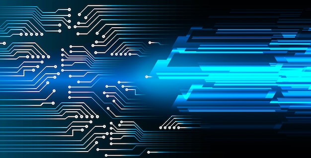 Blue cyber circuit future technology background