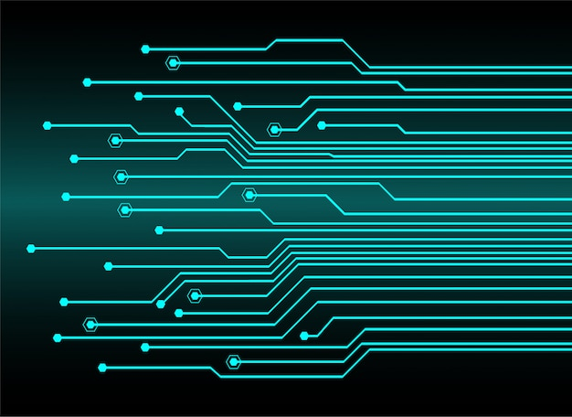 Blue cyber circuit future technology concept background