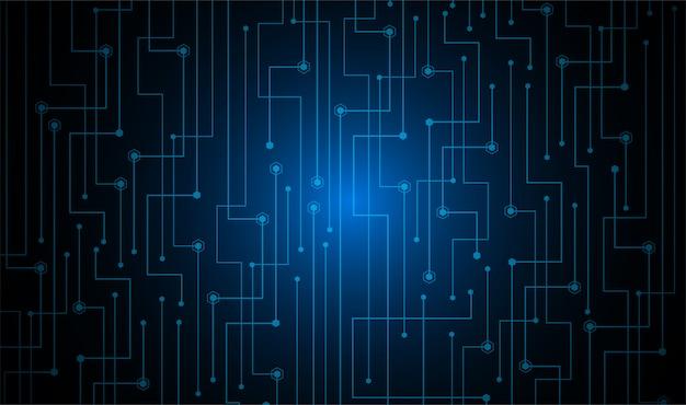 Синий кибер схема будущей технологии концепции фон