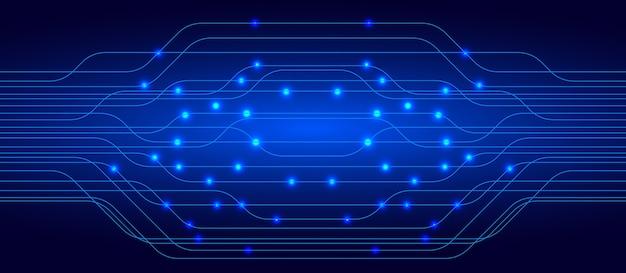 Концепция концепции технологии blue cyber