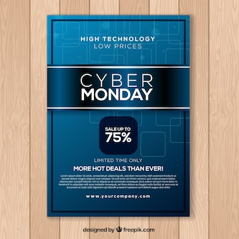 Blue cyber monday poster
