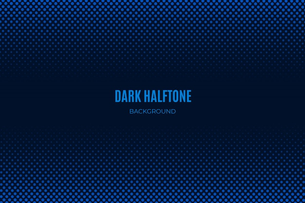 Blue dark halftone background