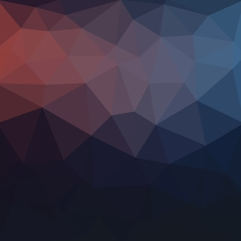 blue dark  Low poly crystal background