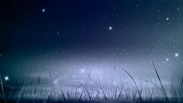 Синий темный фон ночного неба