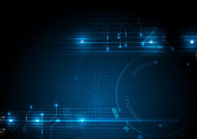 Blue data technology circuit background