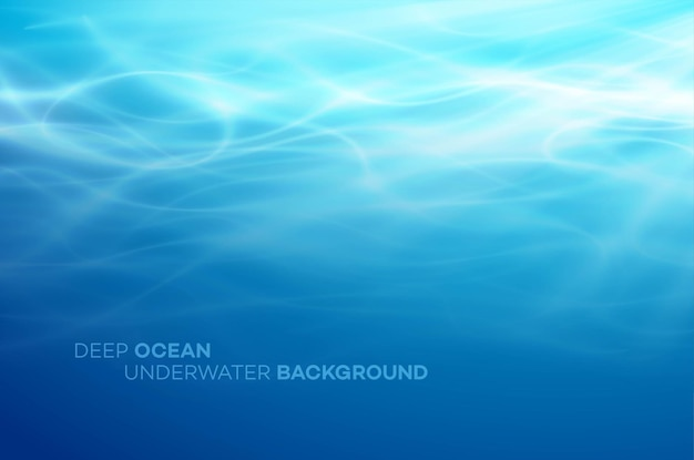 Blue deep water and sea abstract natural background.