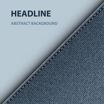 Blue denim diagonal design