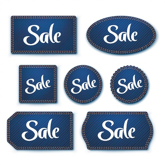 Blue denim labels 01