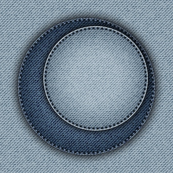 Blue denim with two asymmetric circles