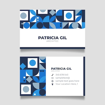 Blue design and white space for text business card template